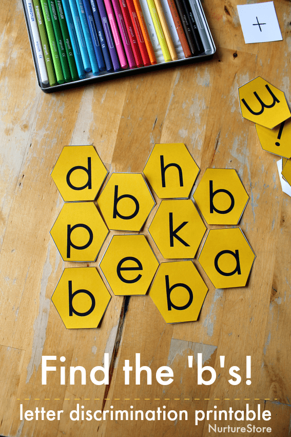 letter b discrimination printable