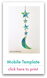 Crescent Moon and Stars Templates