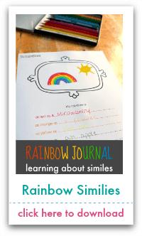 rainbow similies