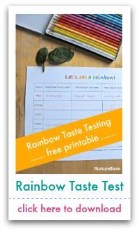 rainbow taste testing