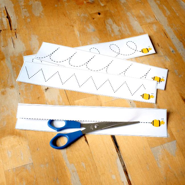 scissor skill cutting cards