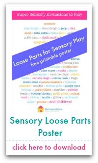 sensory loose parts poster