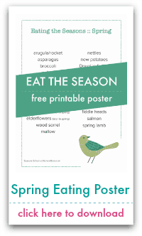 spring eating poster