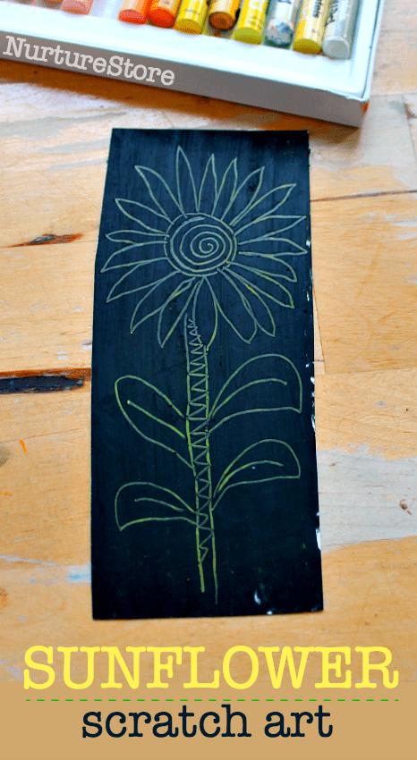 sunflower scratch art