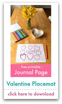 valentine placemat