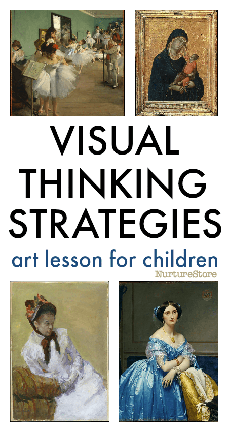 visual thinking strategies art lesson for children, how to talk about art