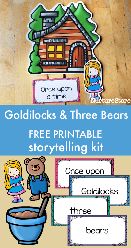 goldilocks and the three bears free printable literacy activities storytelling kit