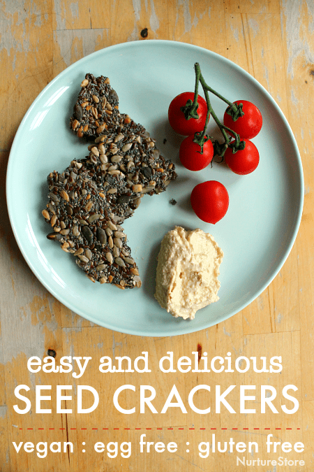 easy seed crackers recipe vegan gluten free egg free