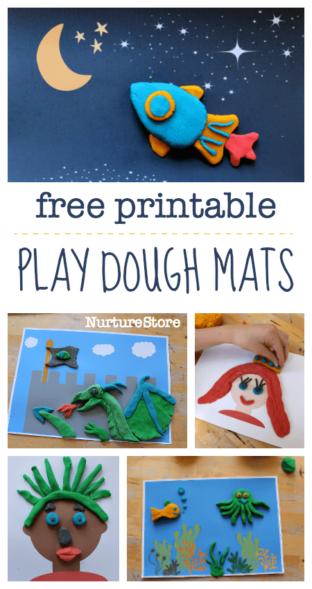 free play dough printable play mats