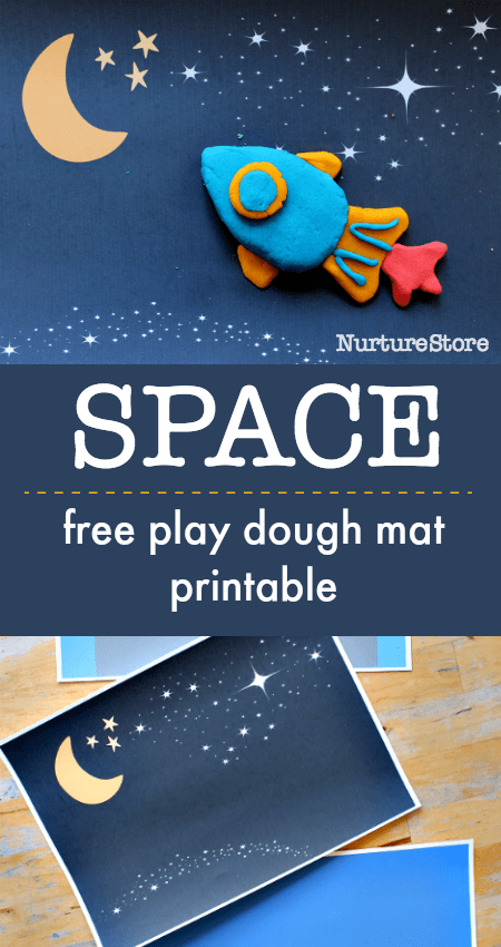 space play dough printables, space play mat, space sensory activity