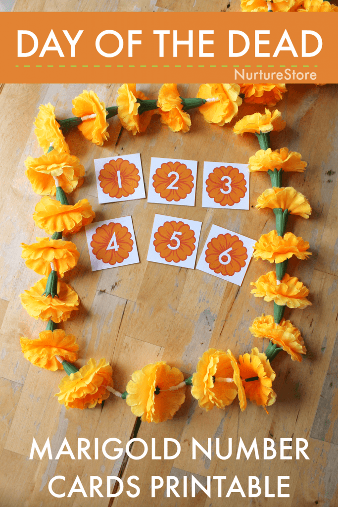 day of the dead classroom printables number cards