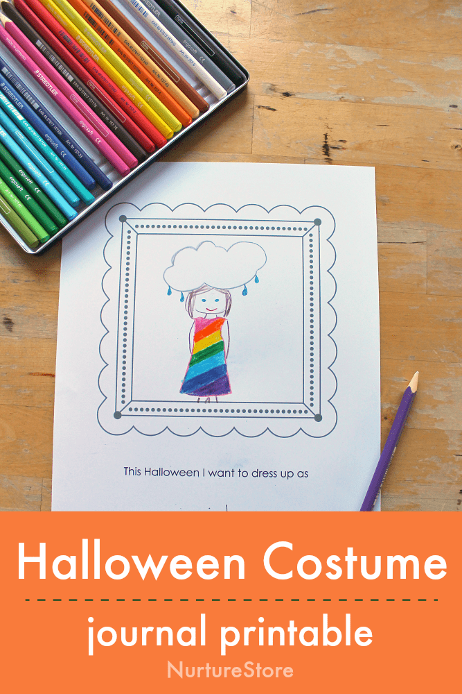 halloween costume journal printable writing prompt
