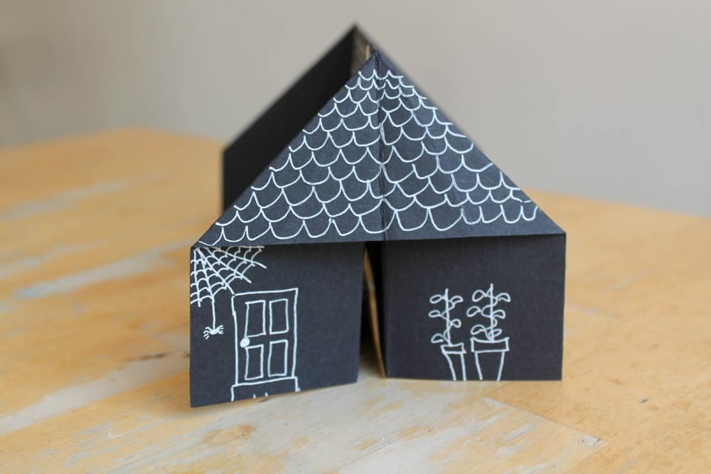how to make house with paper folding