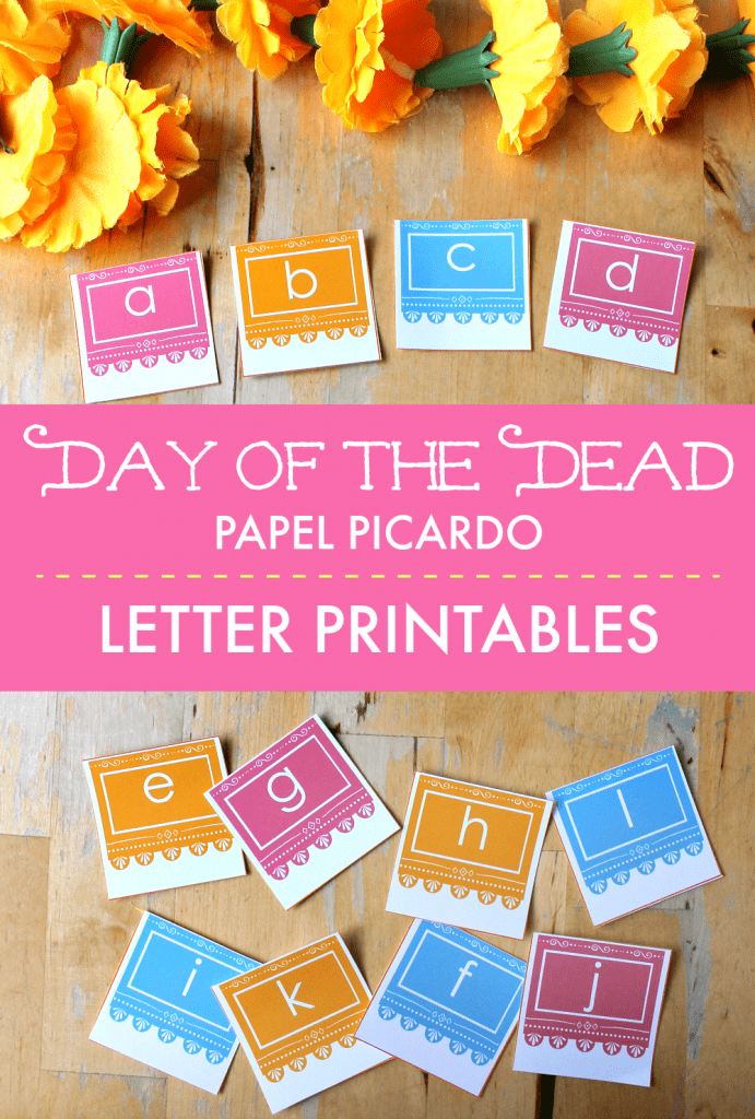 papel picardo printable letters day of the dead literacy activity