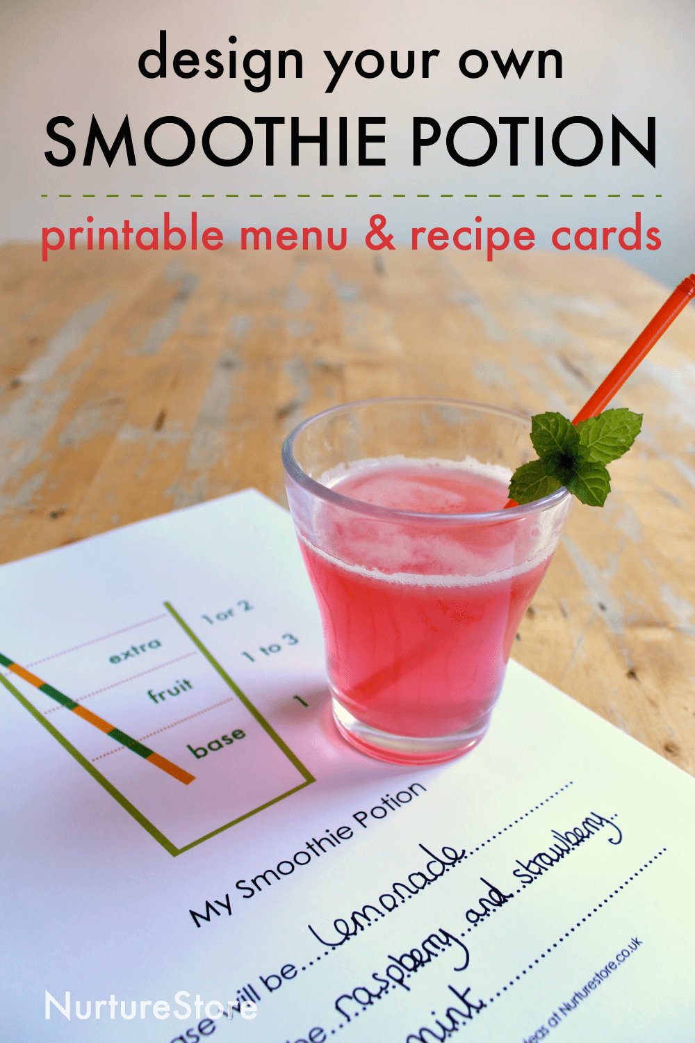 Easter Songs For Kids: Smoothie Making Lesson For Kids With Printable Smoothie