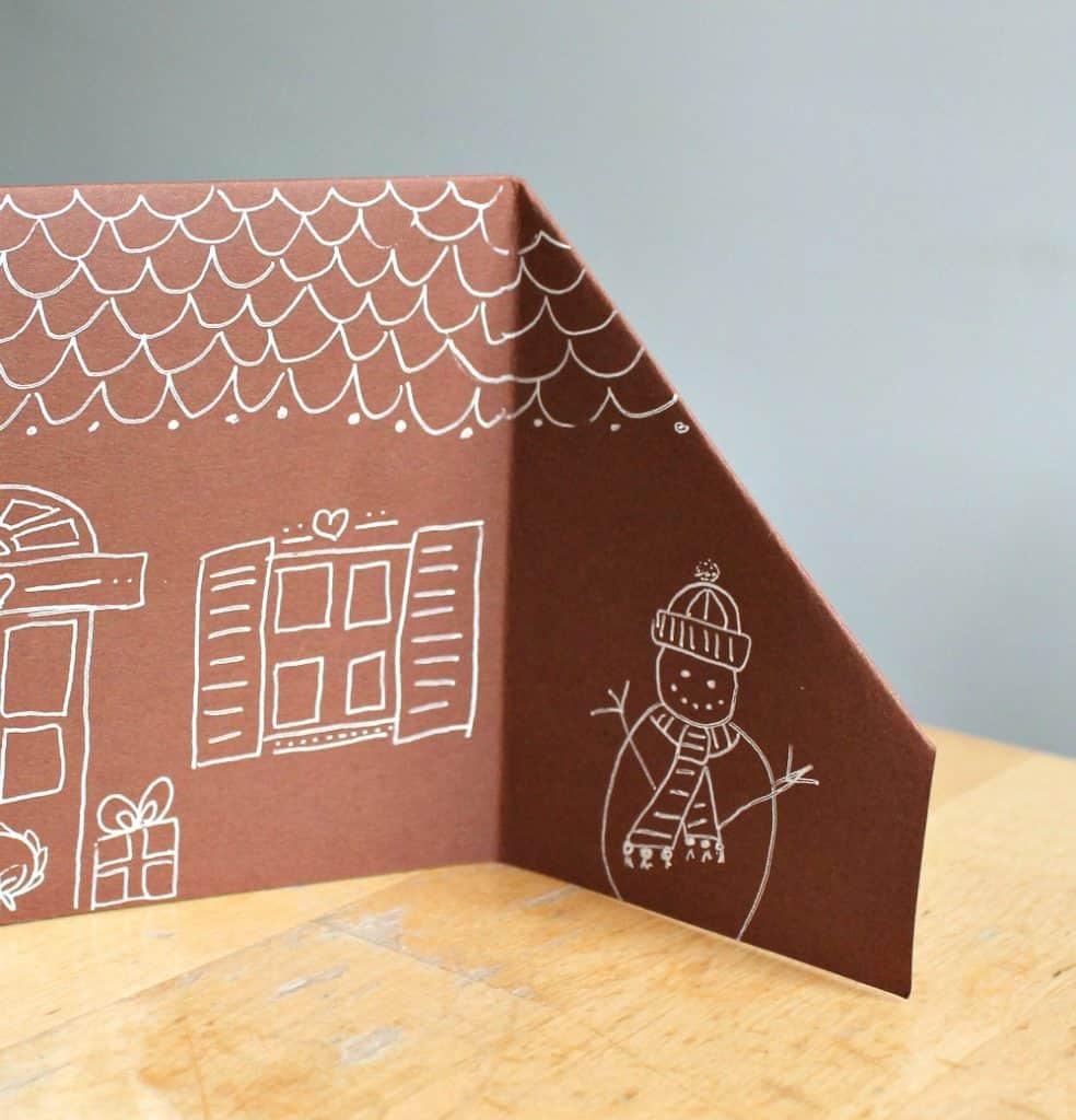 3d house craft for kindergarten