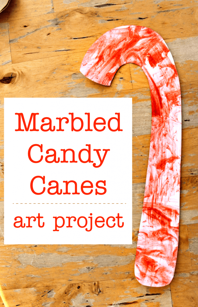 easy candy cane art project