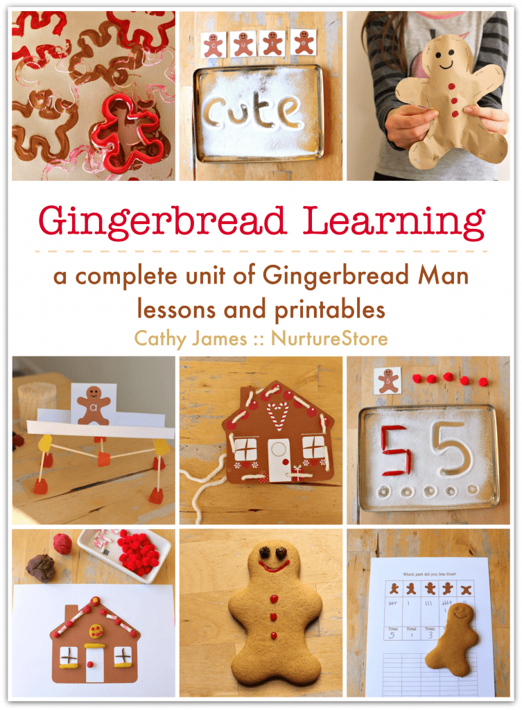 ginger bread man activities and printables, gingerbread man unit for kids