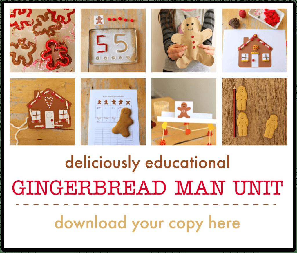 gingerbread man lesson plan printables