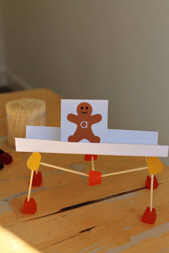Gingerbread Man Science Lesson Stem Bridge Building Challenge Nurturestore