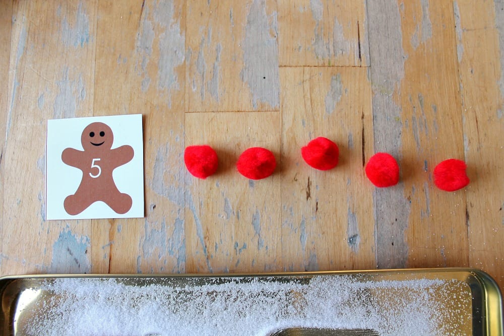 gingerbread men math unit counting game