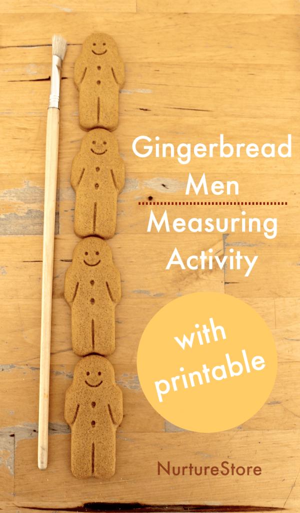 gingerbread men measuring activity printables