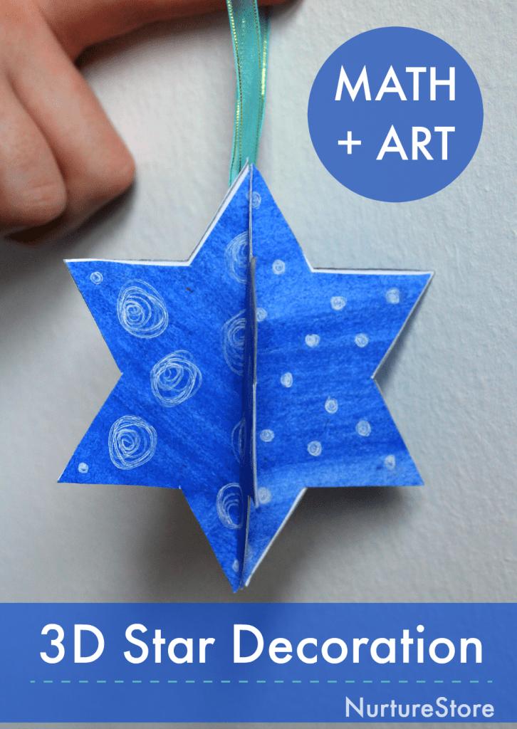 3d star decoration math art lesson