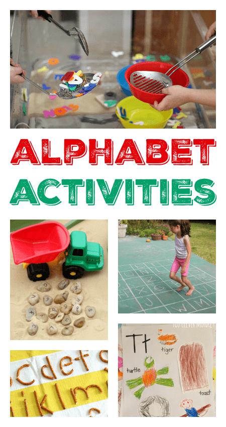 alphabet activities for preschool, hands-on alphabet activities