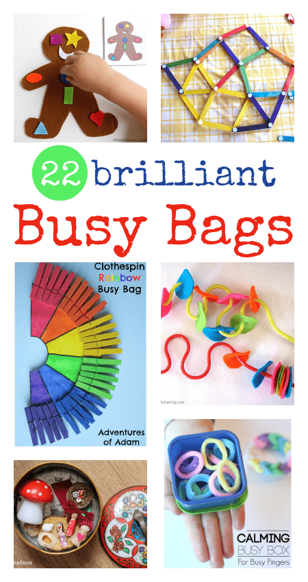 easy busy bag ideas for babies, toddler busy bags, quiet time ideas for kids