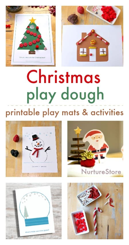 christmas play dough play mats printables