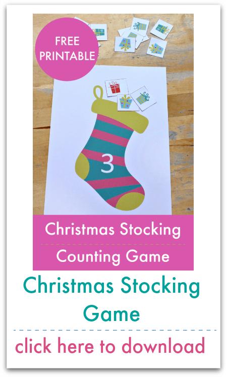 christmas stocking counting mats