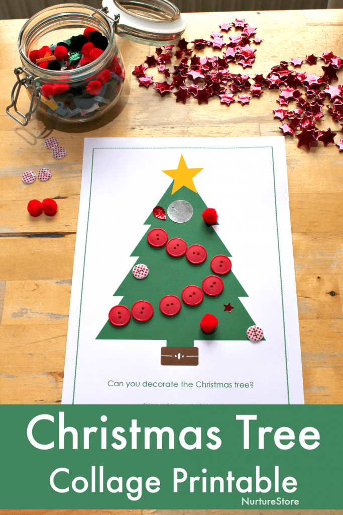 christmas tree template printable collage