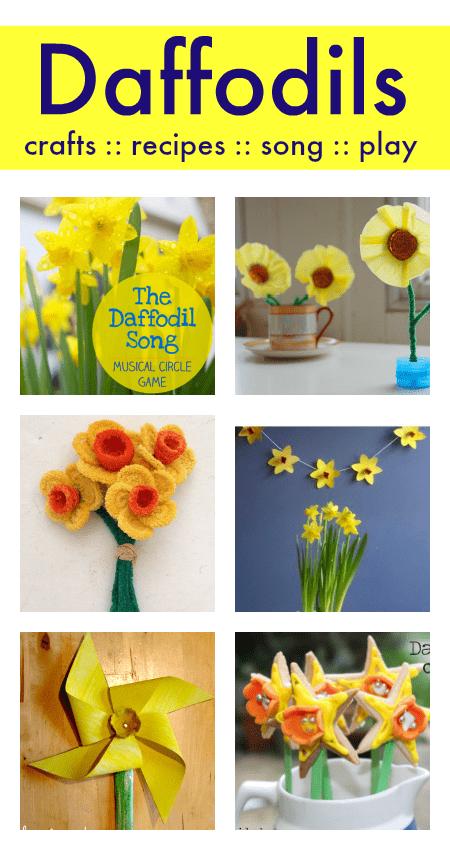 easy daffodil crafts, daffodil theme activities for preschool