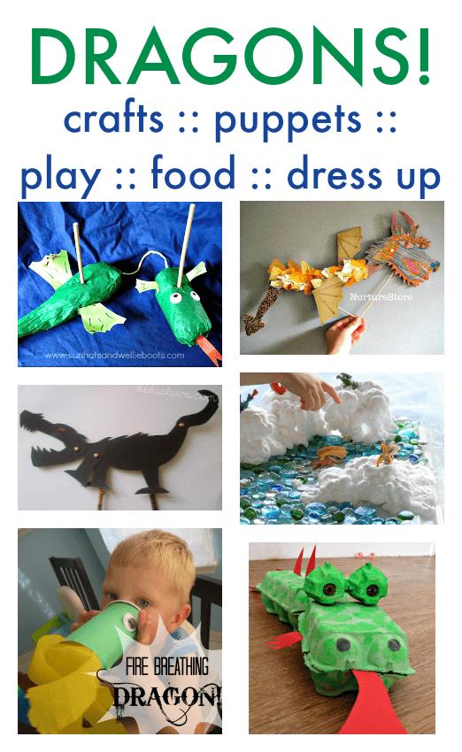 easy dragon crafts, dragon activies