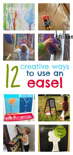 ideas for a child's art easel, simple easel art projects, process art ideas for preschool