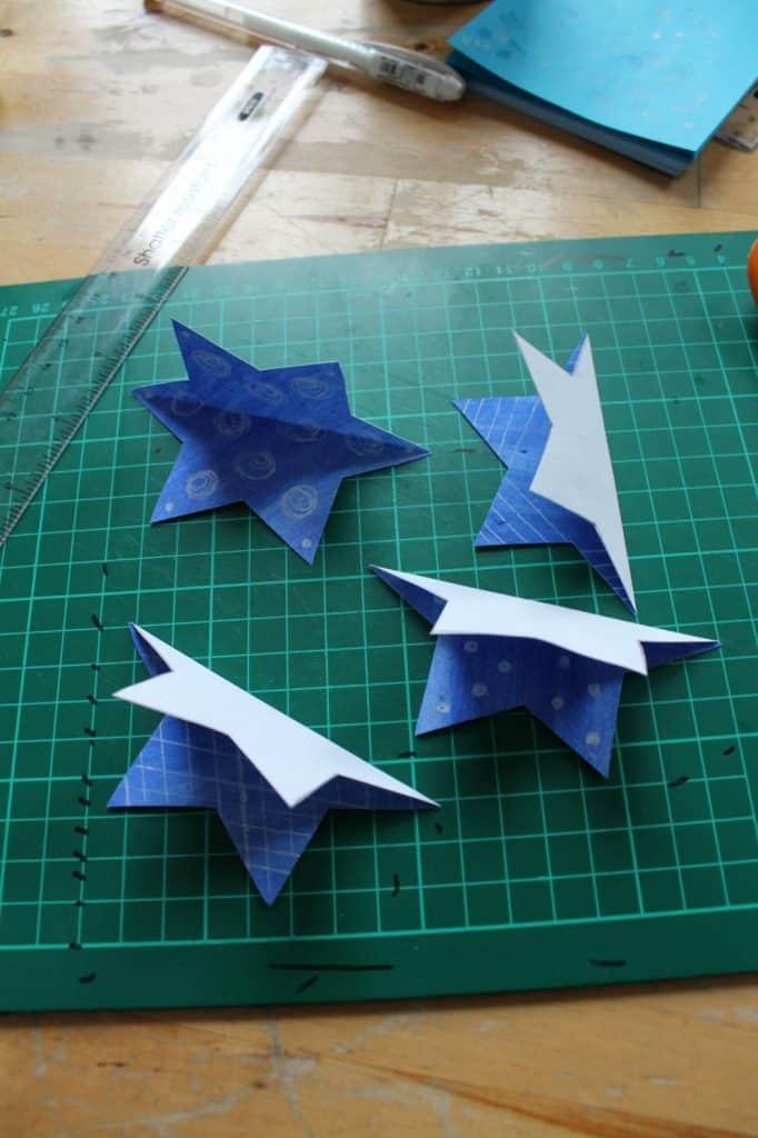 easy 3d star craft for Hanukkah