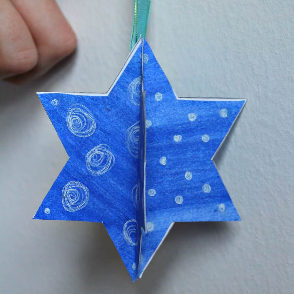easy 3d star decoration sq