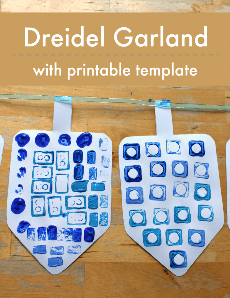 easy dreidel craft with printable template