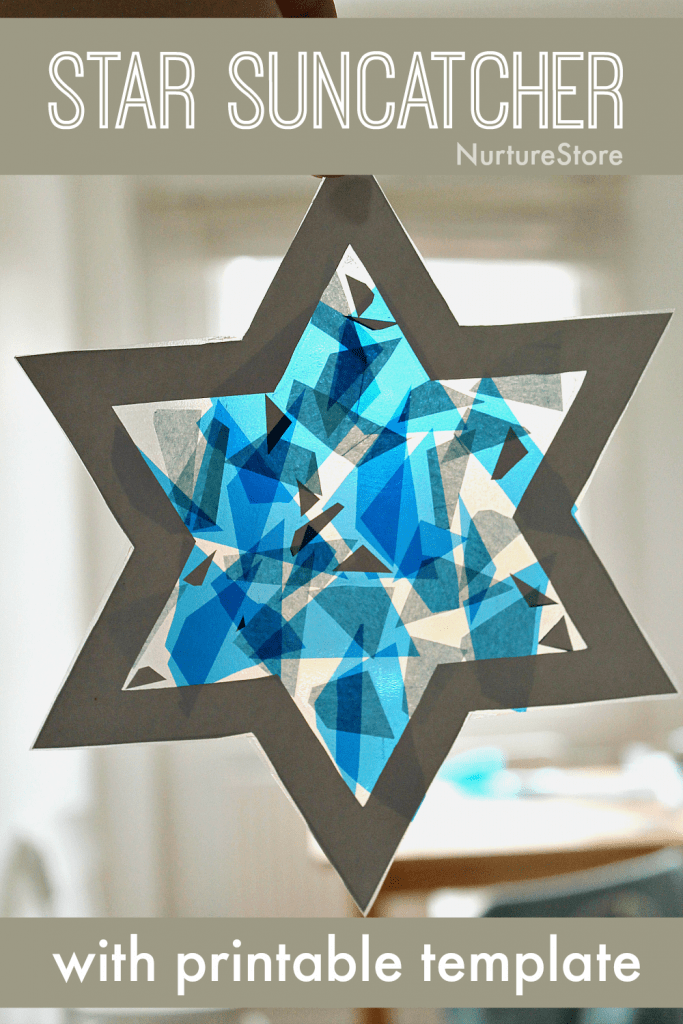 easy star craft for kids Hanukkah craft