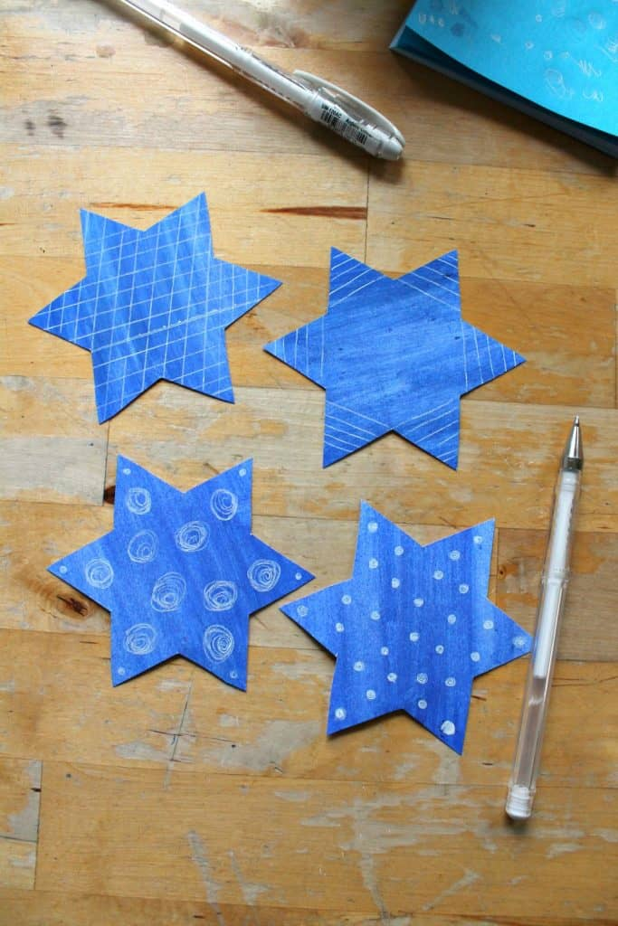 easy star of david craft for kids 3d
