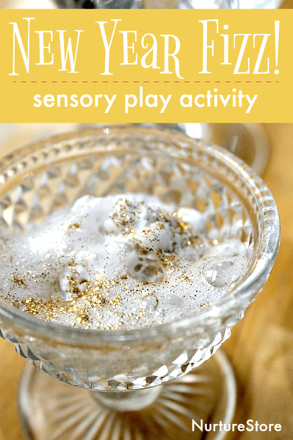 fizzy new year sensory play activity for kids
