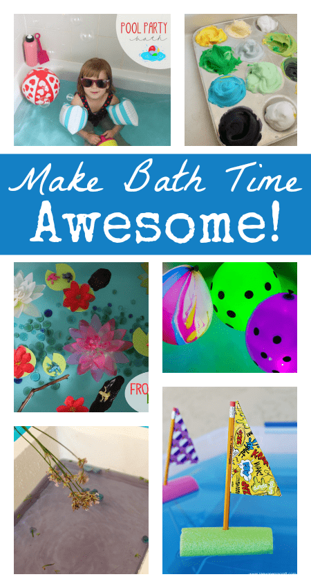 bath play ideas, bath activities for toddlers and preschoolers, fun water play ideas