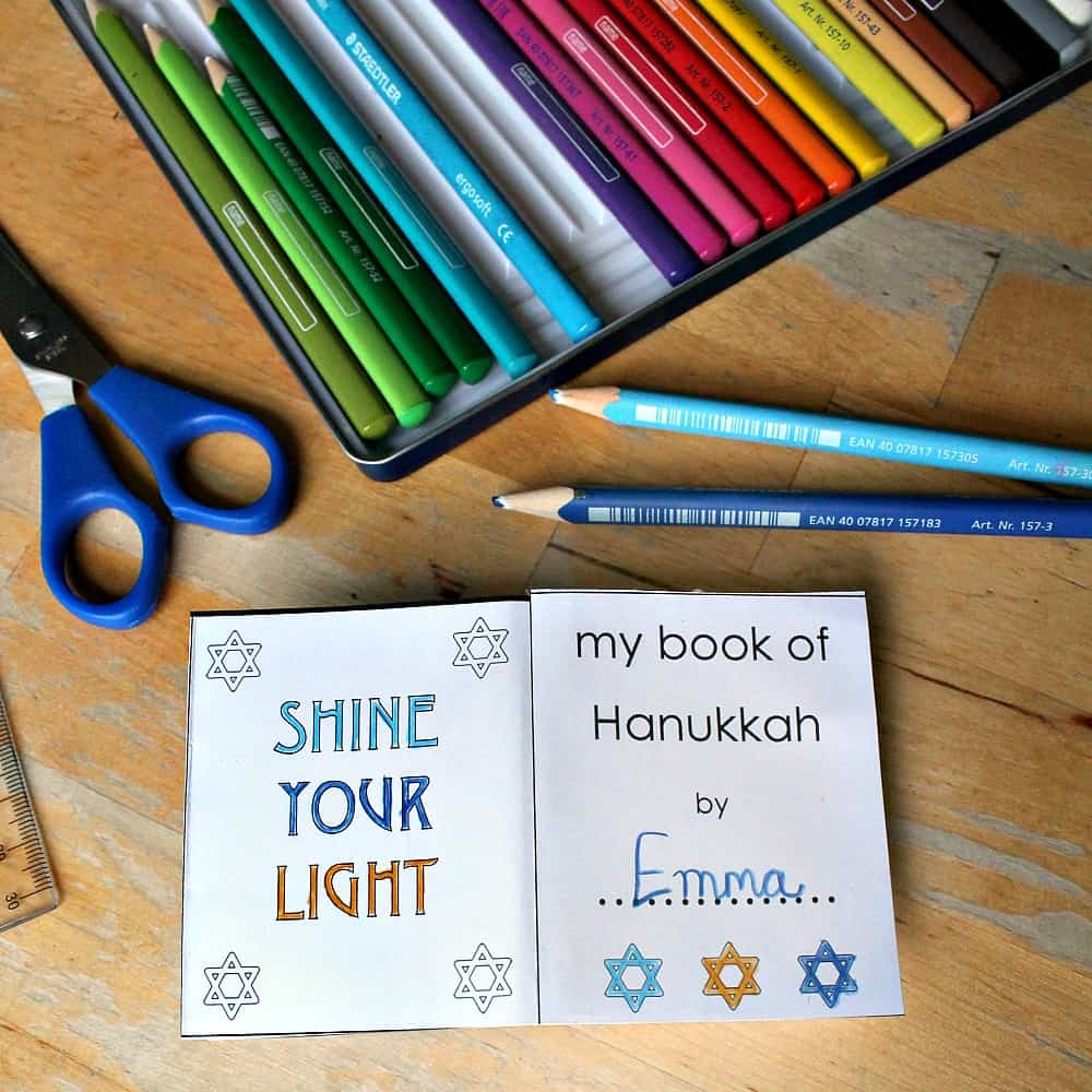 hanukkah unit lapbook