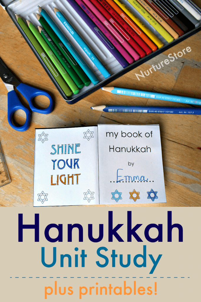 Hanukkah unit study printables with Hanukkah lapbook