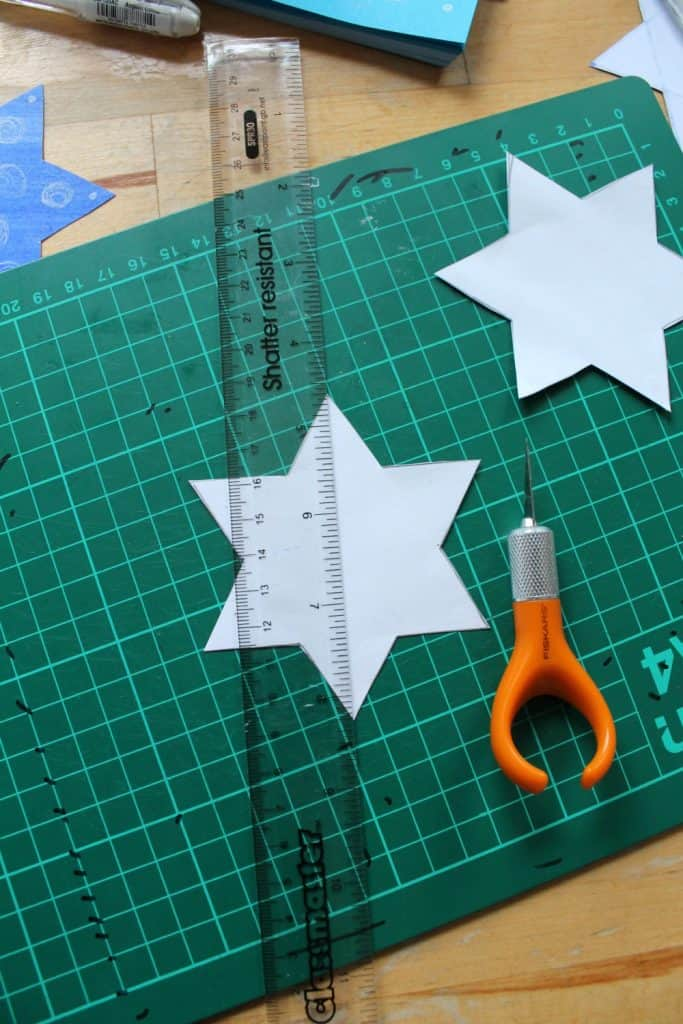 how to make a 3d star decoration