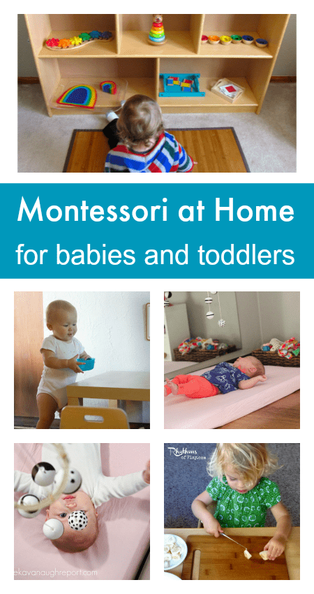how to do Montessori at home, easy Montessori ideas, beginner Montessori, Montessori for babies and toddlers