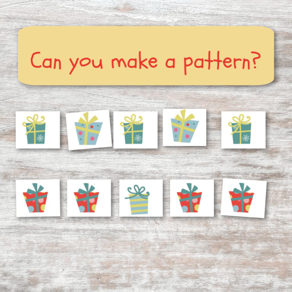 christmas present pattern matching game
