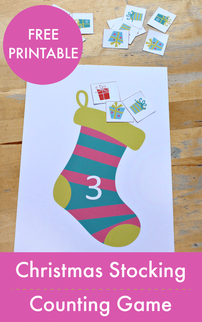 graphic regarding Printable Stocking known as Xmas stocking counting math recreation printable - NurtureStore
