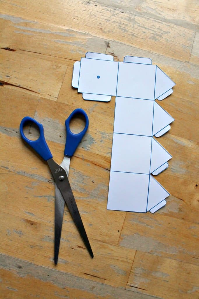 printable dreidel template