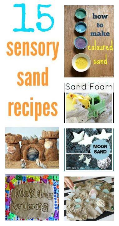 sand play ideas, sensory play with sand, sand pit ideas